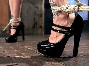 extreme bondage high heels