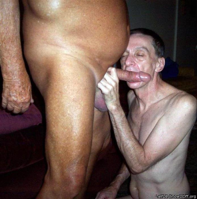 Cock grandpa big Man with
