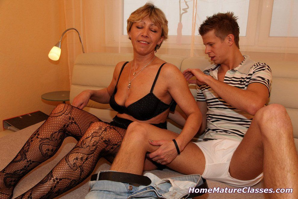 Mature woman sex young man