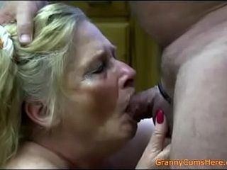 Mature whore masturbate dick and facial