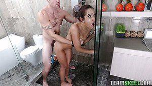 best of Floor Milf in shower