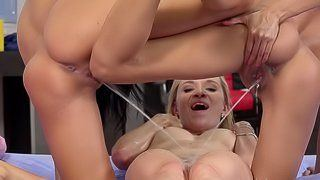 best of And blonde cock girl pissing lick african