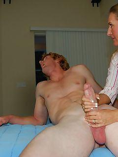 Chubby slut handjob dick orgy