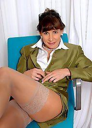 Mature in silk panties
