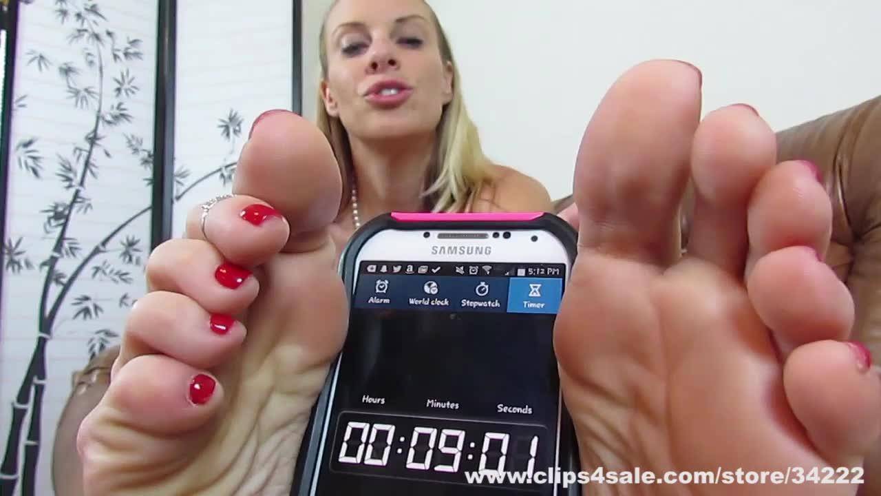 Foot teasing edging