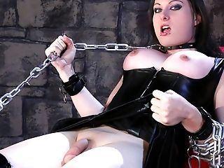 Latex bondage trap