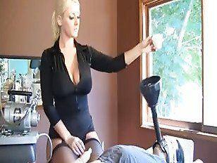 best of Slave and penis interracial handjob pantyhose
