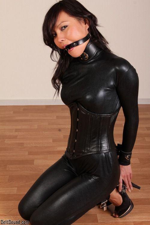 Leather bondage porn